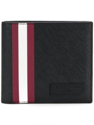 Stripe detail wallet Bally. Цвет: черный