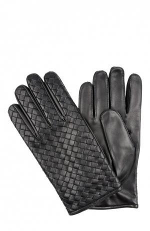 Перчатки Bottega Veneta. Цвет: черный