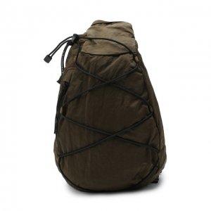 Текстильная поясная сумка C.P. Company. Цвет: хаки