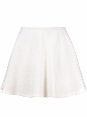 Шерстяная юбка Valentino. Цвет: белый