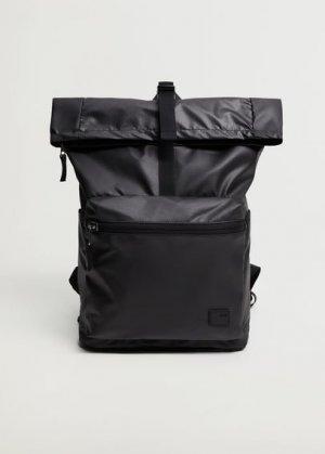 Нейлоновый рюкзак с клапаном - Wash Mango. Цвет: черный