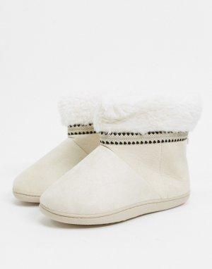 Бежевые ботинки-слиперы -Neutral Totes