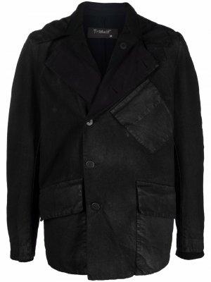 Single-breasted draped blazer Transit. Цвет: черный