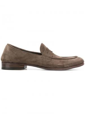 Casual slip-on loafers Alberto Fasciani. Цвет: серый