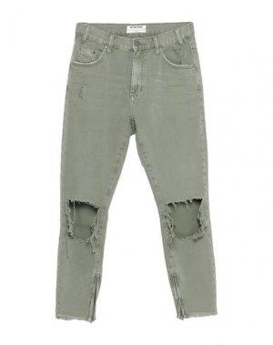 Джинсовые брюки-капри ONE x ONETEASPOON. Цвет: зеленый-милитари