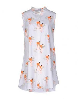 Короткое платье AU JOUR LE. Цвет: белый