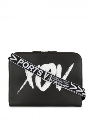 Сумка для ноутбука с графичным принтом Ports V. Цвет: черный