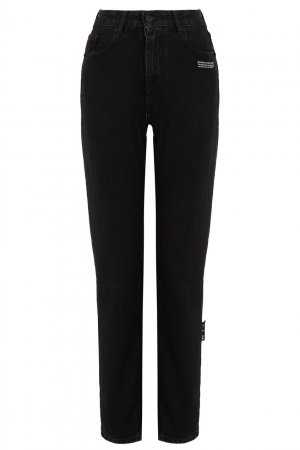 Черные укороченные джинсы скинни Off-white. Цвет: черный