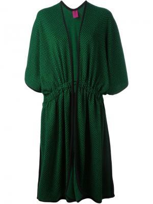 Трикотажное пальто-кардиган Emanuel Ungaro Vintage. Цвет: зелёный
