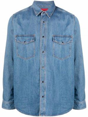 Джинсовая рубашка HUGO. Цвет: синий