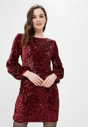 Платье Bigtora. Цвет: бордовый