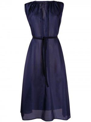 Платье со сборками Roberto Collina. Цвет: синий
