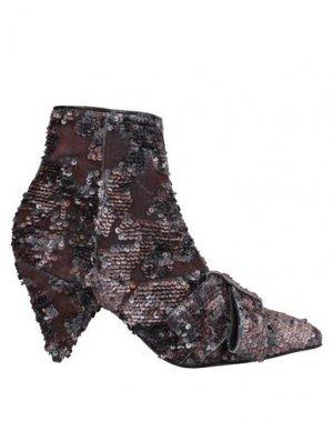 Полусапоги и высокие ботинки LORENA PAGGI. Цвет: темно-коричневый