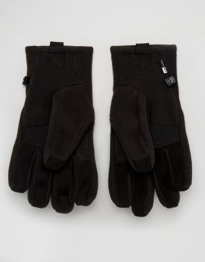 Черные флисовые перчатки для сенсорных гаджетов Denali The North Face. Цвет: черный