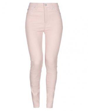 Повседневные брюки HUDSON. Цвет: телесный