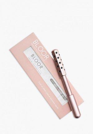 Массажер для лица Bloor роликовый лимфодренажный с минералами германий. Цвет: розовый