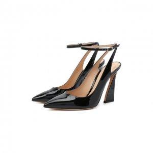 Кожаные туфли Maudi 105 Gianvito Rossi. Цвет: чёрный