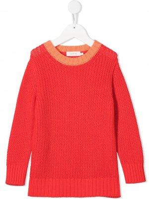 Джемпер крупной вязки Tiny Cottons. Цвет: красный