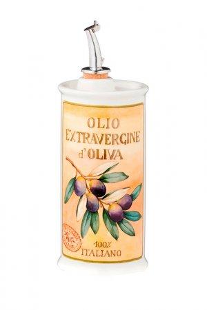 Бутылка для масла Nuova cer. Цвет: белый, желтый, зеленый