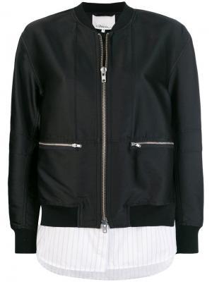 Куртка-бомбер 3.1 Phillip Lim. Цвет: черный