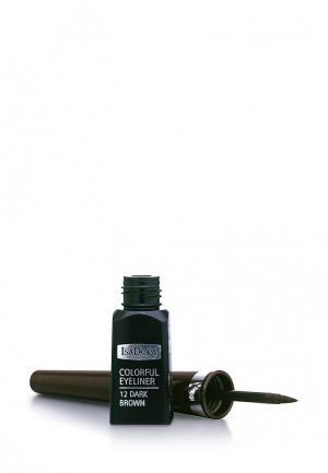 Подводка для глаз Isadora Colorful Eyeliner 12, 3,7 мл. Цвет: коричневый