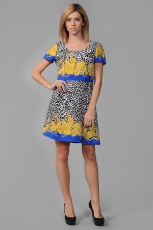 Платье Versace. Цвет: синий