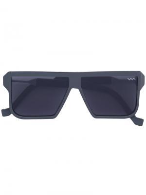 Солнцезащитные очки в квадратной оправе Vava. Цвет: серый