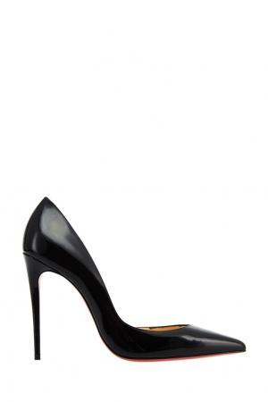 Черные лакированные туфли Iriza 100 Christian Louboutin. Цвет: черный