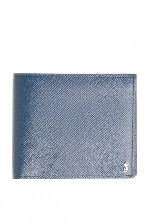 Складное портмоне синего цвета Serapian. Цвет: синий
