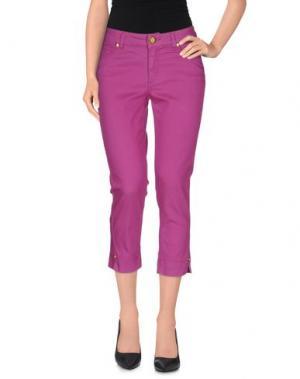 Джинсовые брюки-капри MARANI JEANS. Цвет: розовато-лиловый