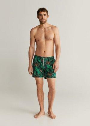 Плавательные шорты с гавайским принтом - Tigre Mango. Цвет: темно-синий