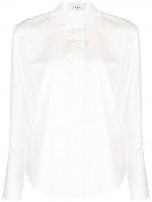 Рубашка с завязками Arias. Цвет: белый