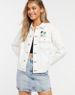 Белая джинсовая куртка -Белый Quiksilver
