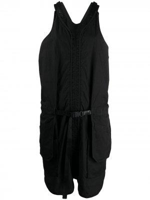 Платье-сарафан с карманами Aries. Цвет: черный