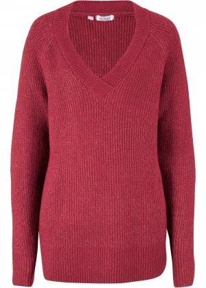 Пуловер из переработанного полиэстера bonprix. Цвет: красный