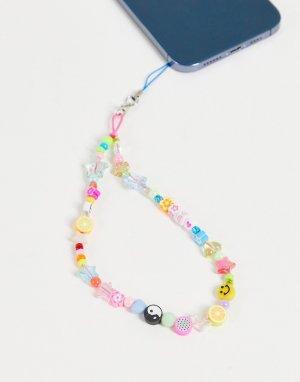 Разноцветная подвеска для телефона с символами мира -Разноцветный Pieces