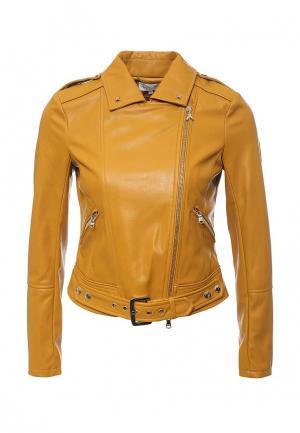 Куртка кожаная Patrizia Pepe PA748EWPAF18. Цвет: оранжевый