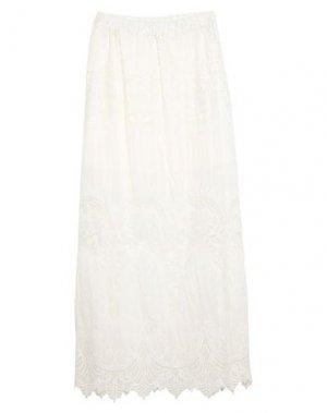 Длинная юбка CLIPS. Цвет: белый