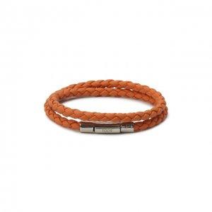 Кожаный браслет Tod's. Цвет: оранжевый