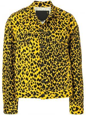 Джинсовая куртка свободного кроя R13. Цвет: желтый
