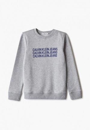 Свитшот Calvin Klein Jeans. Цвет: серый