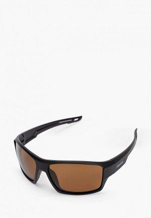Очки солнцезащитные Brenda G075-1 mblack-smoke. Цвет: черный