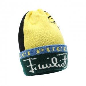 Шерстяная шапка Emilio Pucci. Цвет: зелёный