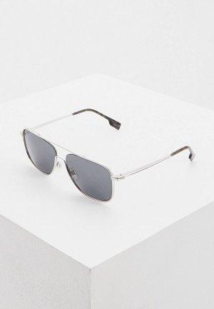 Очки солнцезащитные Burberry 0BE3112 100587. Цвет: серебряный