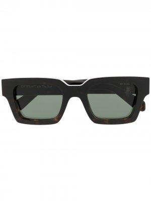 Солнцезащитные очки Virgil Off-White. Цвет: коричневый