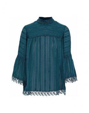 Блузка ANNA SUI. Цвет: цвет морской волны