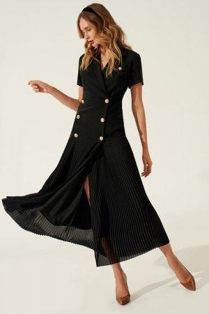 Платье-пиджак TOPTOP STUDIO. Цвет: черный