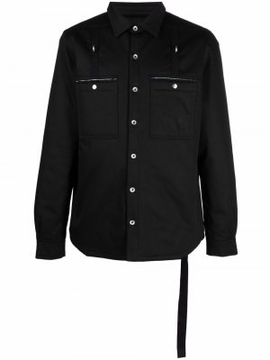 Куртка-рубашка с карманами Rick Owens DRKSHDW. Цвет: черный