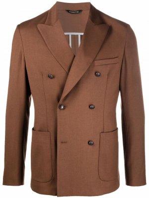 Двубортный пиджак Tonello. Цвет: коричневый