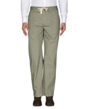 Повседневные брюки GARBSTORE. Цвет: зеленый
